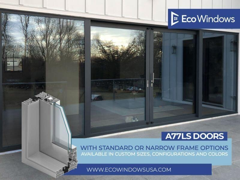 A77LS Doors with Standard or Narrow frame options