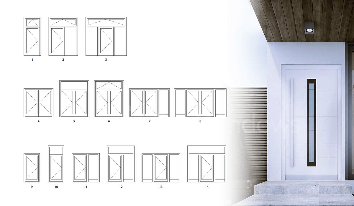 consstructions of a series doors